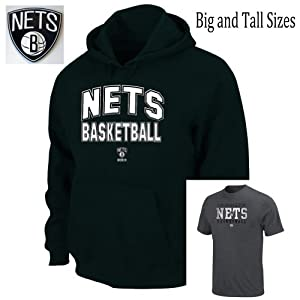 Brooklyn Nets Big & Tall Hood T-Shirt Combo Pack by Majestic