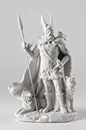 Norse God Odin Statue Viking Pagan Sculpture - Gift Boxed !