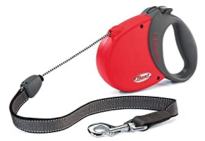 Flexi Comfort Basic 3 Rope Retractable Lead for Dog, 5 m, Red