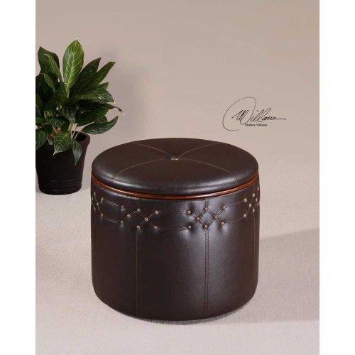 Uttermost, Brunner Small Storage Ottoman, Accent Furniture