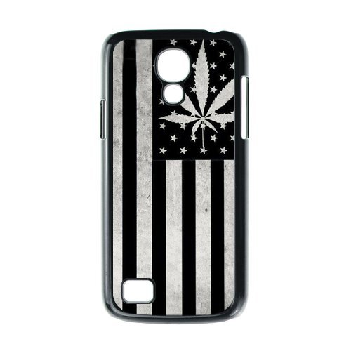 Generic Mobile Phone Cases Cover For Samsung Galaxy S4 Mini Case I9192 I9198 Country American Flag Marijuana Cannabis Weed Hemp Leaf Smoker Design Custom Made Hard Snap On Cell Phones Shell Protect Skin