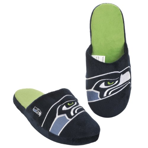 NFL Seattle Seahawks 2011 Big Logo Slide Slipper Hard Sole Small at Amazon.com