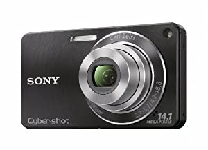 Sony DSC-W350 14.1MP Digital Camera with 4x Wide Angle Zoom with Optical Steady Shot Image Stabilization and 2.7 inch LCD (Black)