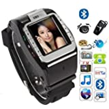 New N388 GSM Quadband Voice Dialing Watch Cell Phone Unlocked Touch Screen--black