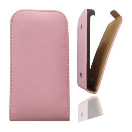 Flipcase Hülle Etui Handytasche Slim in rosa für Nokia Lumia 610 inkl. World-of-Technik Touchpen