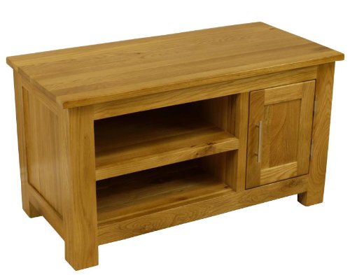 OAKLAND - CHUNKY OAK SMALL PLASMA TV DVD VIDEO UNIT CABINET STAND ASSEMBLED *FREE UK MAINLAND DELIVERY* Black Friday & Cyber Monday 2014
