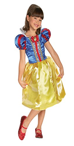 Girls Snow White Sparkle Class Kids Child Fancy Dress Party Halloween Costume