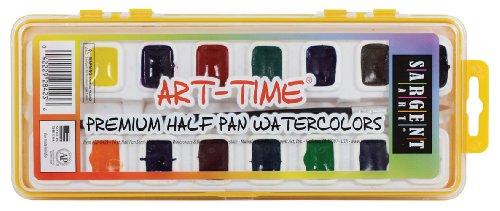 Sargent Art 22-8423 16-Count Art Time Premium Watercolor Set, Half-Pan with Brush