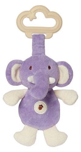 My Natural Sensory Teether, Purple Elephant front-30064