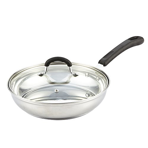 Cook N Home Stainless Steel Cookware 10-inch Saute Pan With Lid (Steel Saute Pan compare prices)