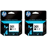 2x HP 301 Original Black Printer Ink Cartridges For use with HP Deskjet 1000 1050 1050A 1050se 2000 2050 2050A 2050se 2054A 2510 3000 3050 3052A 3050se 3054A 3050ve 3055A