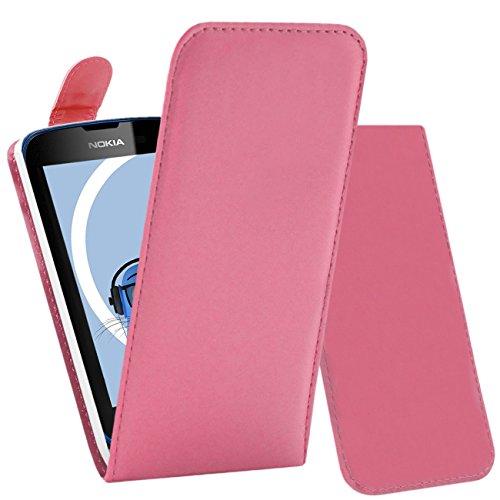 iTALKonline Nokia Lumia 610 Rosa PU Leder Executive Multifunktions vertikaler Schlag Mappen Kasten Abdeckung Veranstalter