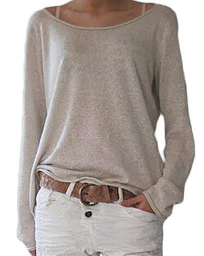 ZANZEA-Femmes-Automne-Casual-Vrac-Lche-Chemise-Manches-Longues-Coton-T-shirt-Top-Blouse-Pull-Shirt