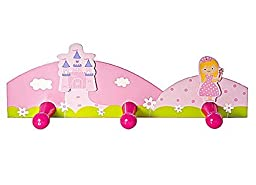Pink Princess Triple Wall Hooks Coat Hooks For Girls Nursery or Bedroom