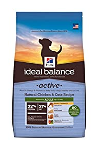 Hill's Ideal Balance Active Natural Chicken & Oats Recipe Adult Dry Dog Food, 12.5-Pound