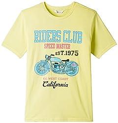 Beebay Boys Cotton Bike Print T-Shirt (B0815121103713_Green_7Y)