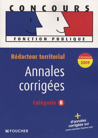 Rédacteur territorial : Annales corrigées