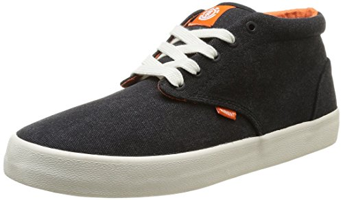 Element  Preston,  Scarpe da skateboard uomo Nero Noir (Noir/Orange) 40