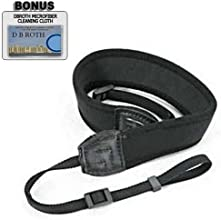 Deluxe Neoprene Black Wide Neck Strap For The Sony SLT-A57 Digital SL RCamera