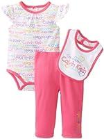 Calvin Klein Baby-Girls Newborn Print Bodysuit with Pants