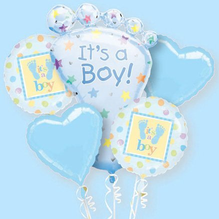 It'S A Boy Bouquet Of Balloons (1 Per Package) front-858433
