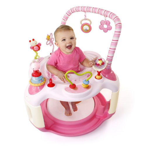 pink bright starts bounce baby activity center bouncer jumper toys miami local ebay. Black Bedroom Furniture Sets. Home Design Ideas