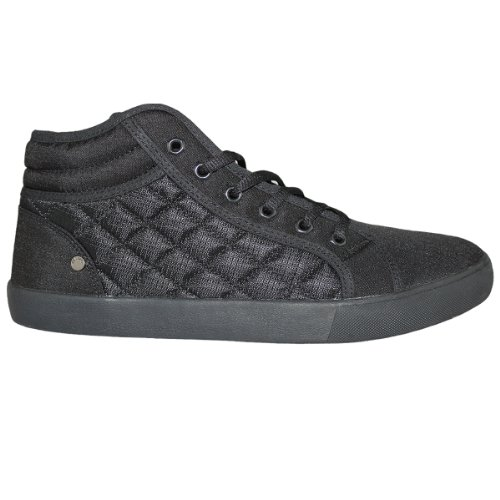 Mens Black Nicholas Deakins Washington Designer Hi Top Trainers