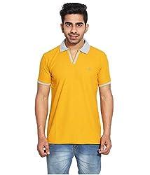 Le Bon Ton Men's Cotton Blend T-Shirt (AMZ_AMP_087_Orange_Medium)
