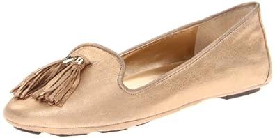 BCBGeneration Women's Leonna Ballet Flat,Gold Dust,5 M US