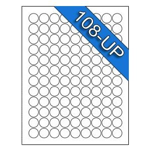 108 up 3 4 diameter 75 inch avery 5408 for 3 4 round label template