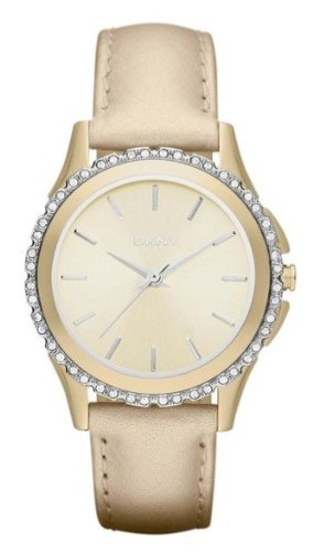 DKNY Brooklyn Gold with Crystals Women's watch #NY8702
