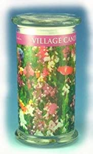 ENGLISH GARDEN Radiance Wooden Wick 21 oz Scented Jar Candle by Village Candles