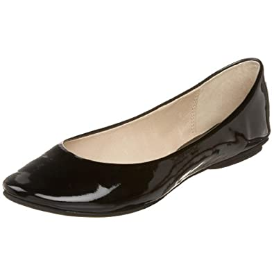 Kenneth Cole REACTION Women's Slip On By Ballet Flat,Black Patent,5.5 M US