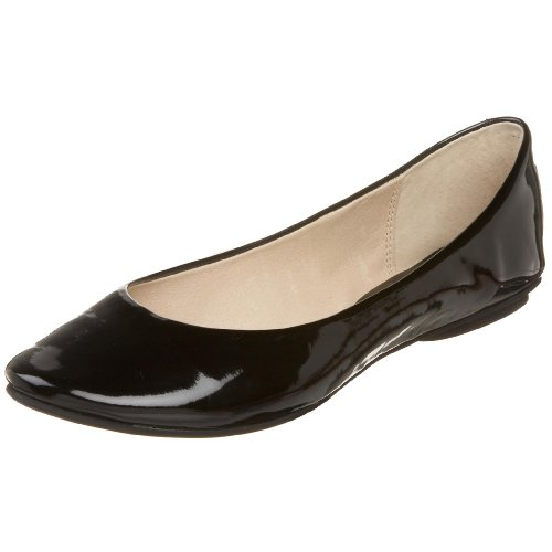Kenneth Cole REACTION Women's Slip On By Ballet Flat,Black Patent,7.5 M US