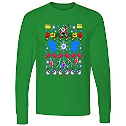This Is My Ugly Christmas Sweater Santa Snowman long sleeve T-Shirt
