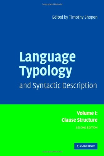 Language Typology and Syntactic Description: Volume 1,...