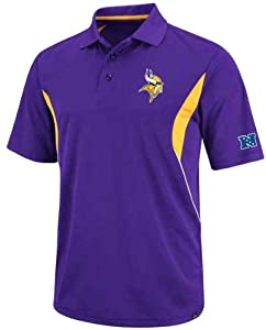 Minnesota Vikings NFL Field Classic V Purple Synthetic Polo by VF
