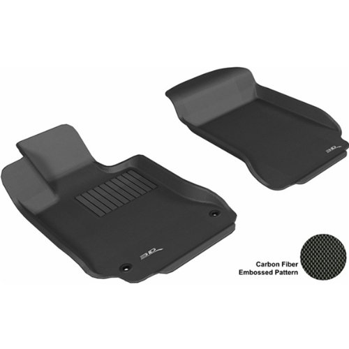 3D Maxpider Front Row Custom Fit All-Weather Floor Mat For Select Mercedes-Benz C-Class Models - Kagu Rubber (Black)