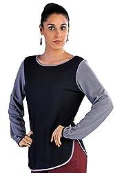 Kaaryah Women's Pullover (PUL03_Black Grey_12)