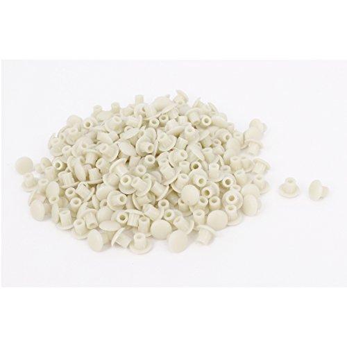 Mobili-Spento-Plastica-Bianco-Foro-Di-5mm-Perforazione-Copertura-Presa-Inserto-500pz