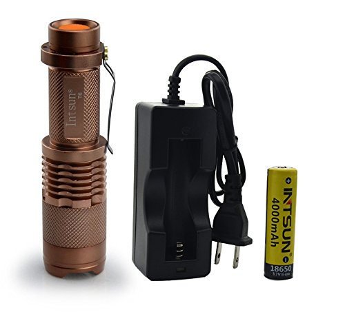 Intsun® Cree Xml-T6 Led 1000 Lumens Mini Flashlight Torch 18650 (Flashlight+Single Charger 2)