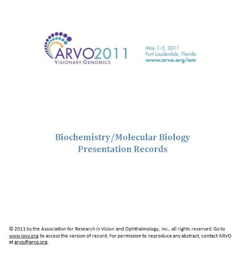 ARVO 2011 Annual Meeting - Section BI