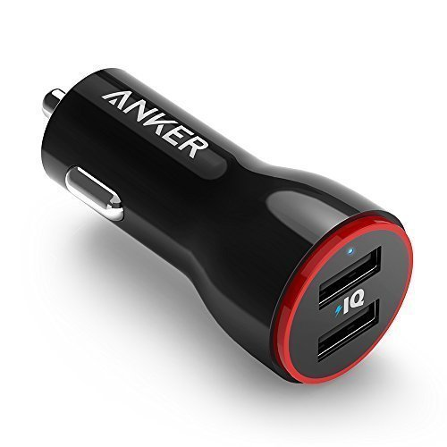 Anker PowerDrive 2 Auto Ladegerät 24W / 4.8A 2-Port USB Kfz Ladegerät für iPhone 6 / 6 Plus, iPad Air 2 / mini 3, Galaxy S6 / S6 Edge und weitere (Schwarz)