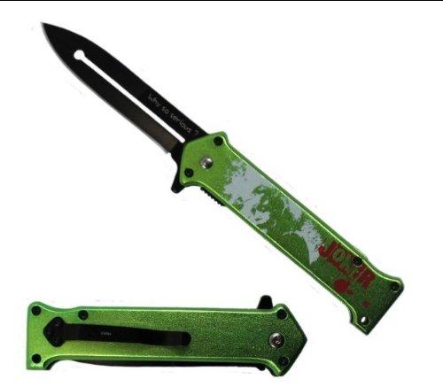 "The Joker"" Ao ""Why So Serious ?"" Folding Knife Green"