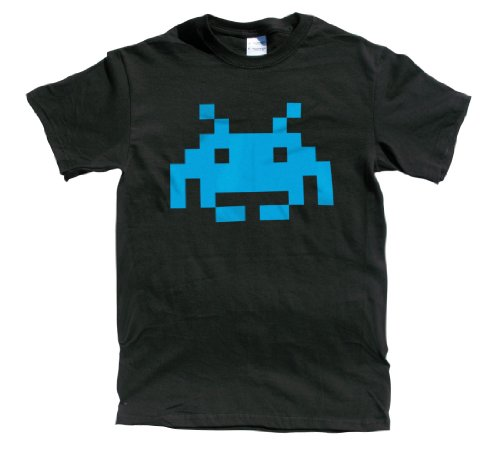 Rocket Factory Mens Space Invaders 8 Bit Retro T-shirt - S to XXL