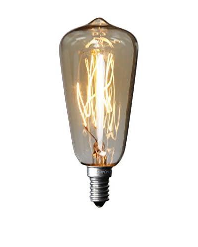 LO+DEMODA Bombilla Edison Vintage 7-Clear St38 E14 40W Cristal transparente
