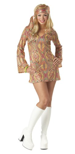 Disco Dolly Costume - Large - Dress Size 10-12