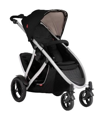 Phil and Teds Verve V3 Stroller With Doubles Kit (Black) - 1