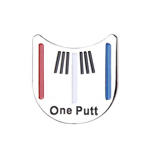 Golf Putting Alignment Tool Ball Marker w/ Hat Clip