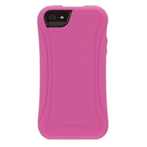 Griffin GB36472 Survivor Slim Case for iPhone 5 - Retail Packaging - Hot Pink